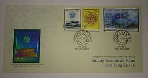 Royal-Selangor-Pewter-Niobium-Stamp-FDC-2003-OIC-Islamic-Summit-Conference