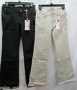 Girls-Chino-Pants-Flare-Stretch-Adjustable-Waistband