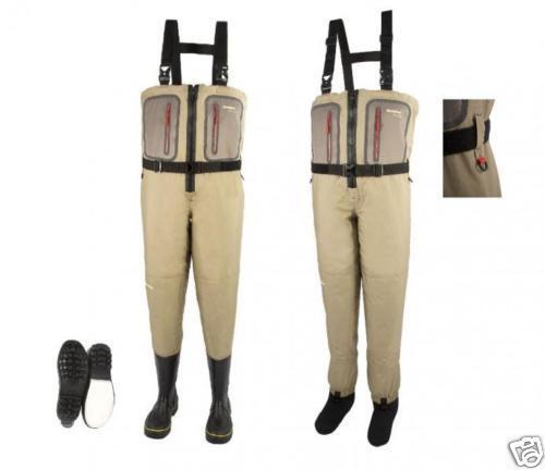 Special Offer Snowbee Prestige Zip Front Bootfoot Chest Waders 7 M Combi Sole