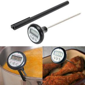 Bbq digital fleisch thermometer essen sprobe instant kochen lesen k chenhelfer ebay - Thermometer zum kochen ...