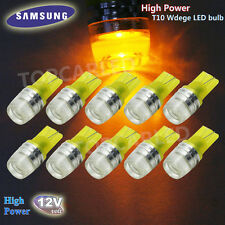10pcs T10 Wedge Samsung High Power 1W LED Light Bulbs Bright Yellow 192 168 194