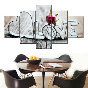 5PC-Unframed-Modern-Art-Oil-Painting-Print-Canvas-Picture-Living-Room-Wall-Decor