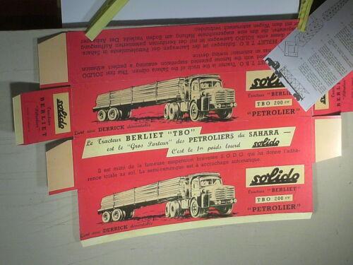 toute 1ére boite rouge REPLIQUE BOITE 1960 BERLIET TBO SAHARA 200 CV SOLIDO