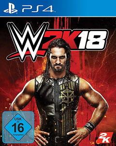 SONY PS4 WWE 2K18 OVP deutsch gebraucht günstig WCW Wrestling WWF