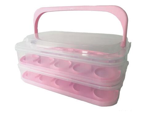 Axentia 130614 Muffin Boîte de transport 2 étages avec poignée garanti box pp