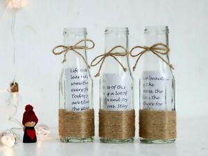 Segnaposto Matrimonio Bottiglia.1 Tela Di Iuta Rustico Vetro Natale Festa Matrimonio Messaggio In