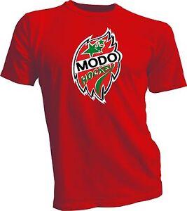 MODO SHL Örnsköldsvik Sweden Professional Hockey RED T-Shirt s NEW Swedish Size