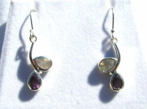 Amethyst-Mondstein-facettiert-Ohrhaenger-925-Silber-Amethyst-earrings-Nr-E7204