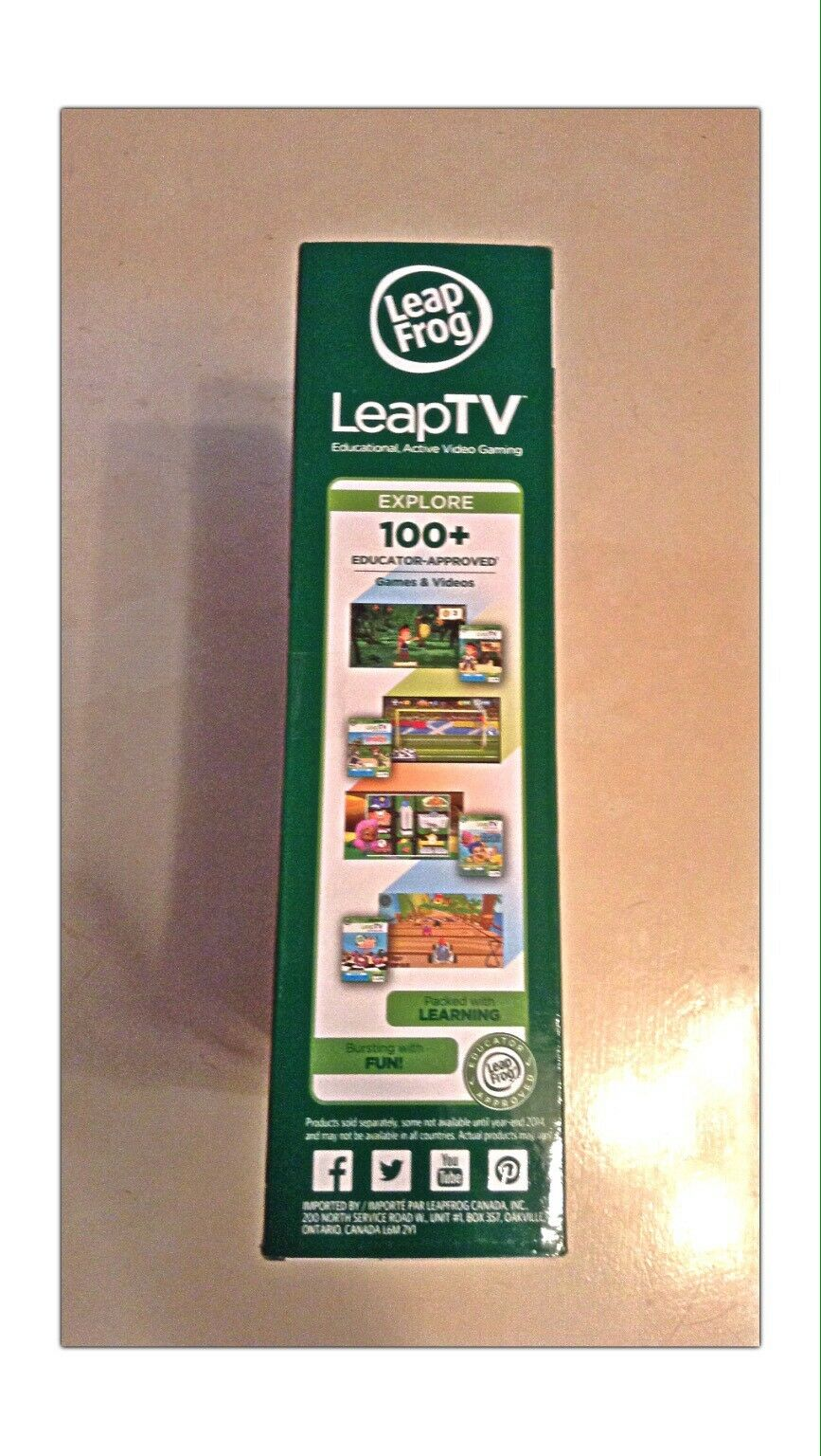 Leap Frog Leapfrog LeapTV Educational Active Video Gaming System System System New In Box c56f7e