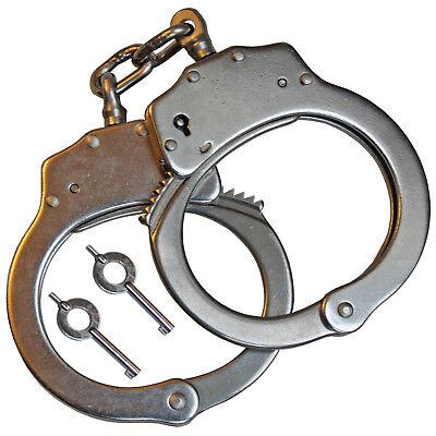 Gutherzig Edelstahl Handschellen Mit Arretierung Zwischenkette 2schlüssel Security Polizei Wir Nehmen Kunden Als Unsere GöTter