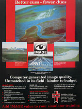11/90 PUB LINK MILES IMAGE 600 SIMULATION SIMULATOR TRAINING AIRLINES AD