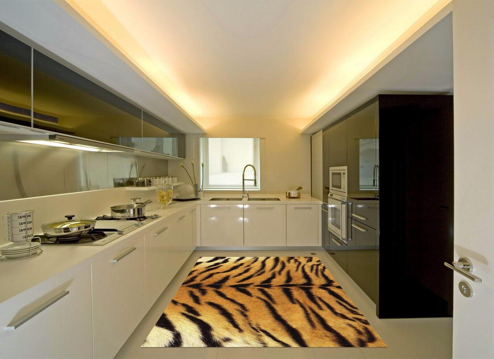3D Tiger Pattern 9 Kitchen Mat Floor Murals Wall Print Wall AJ WALLPAPER UK Kyra