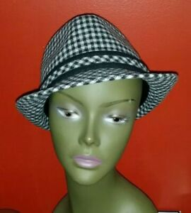 Men-039-s-The-Hatter-Company-Fedora-Checkered-Hat-Size-L-XL