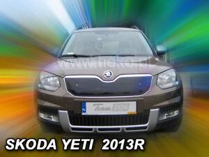 SKODA-YETI-2013-5-doors-Front-grill-winter-cover-HEKO-04012-UPPER