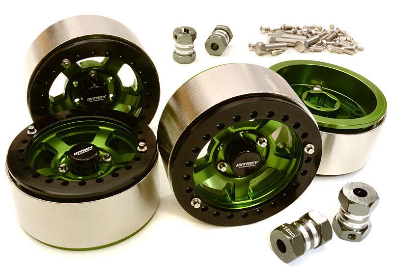 C27032verde Integy 1.9 High Mass Wheel(4)w 14mm Offset Hubs for 1 10 Crawler