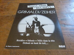 GRIMALDI-amp-ZEIHER-Publicite-de-magazine-Advert-RECIDIVE