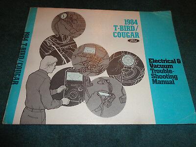 1984 FORD THUNDERBIRD / MERCURY COUGAR WIRING & VACUUM ...