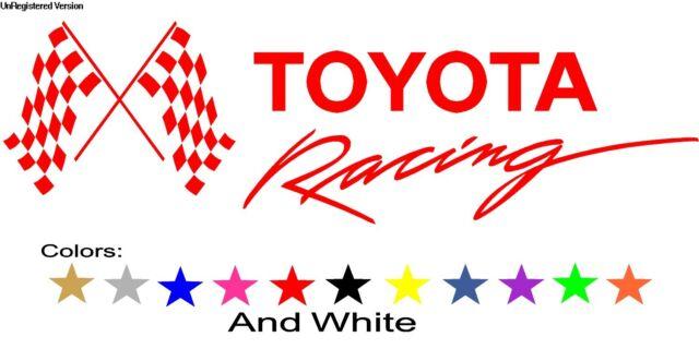 "TRD TOYOTA Racing Decal Sticker Tundra Custom for Mark White 18"""
