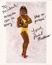 RACHEL MATHIAS Hand Signed 8x10 Sexy Photo - World's #1 Bodybuilder - Free S/H