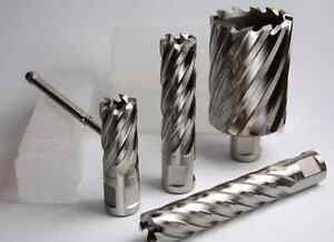 "1-1//8/"" X 1/"" TiAlN coating HSS annular cutter with 3//4/"" weldon shank /& pilot pin"