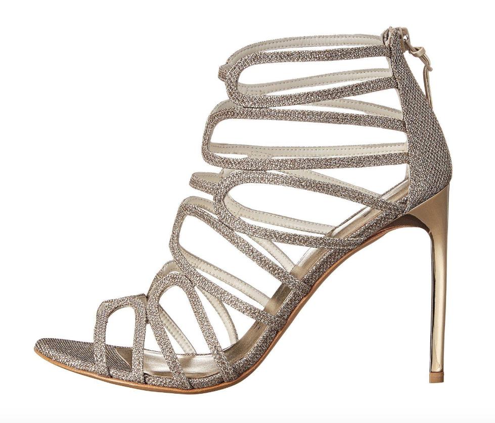 i nuovi marchi outlet online Stuart Weitzman donnaLoopdeloop Platinum nero Sandals Sz 9M 9M 9M 2737  molto popolare
