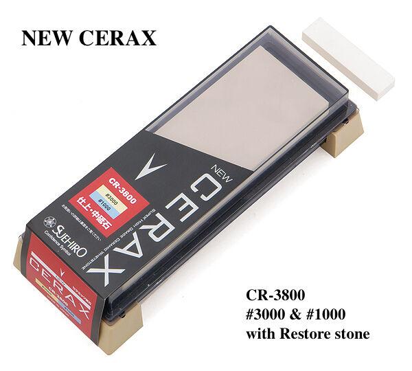 Japanese Whetstone Suehiro New CERAX CR-3800  3000    1000 Dual Combination Stone f2c453
