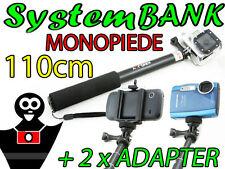 Monopiede Braccio Mano Allungabile Telescopico 110cm per IPHONE 4 5 6 4s 5c 5s