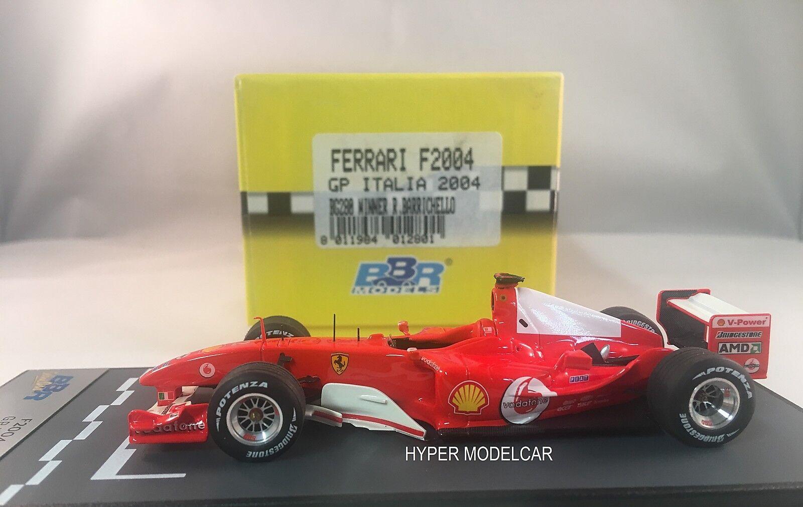 BBR Model 1/43 1/43 1/43 F1 Ferrari F2004 Gp #2 Gp Italia Winner R. Barrichello 2004 BG288   Approvisionnement Suffisant Et Une Livraison Rapide    Des Technologies Sophistiquées    La Qualité Des Produits  b513e3