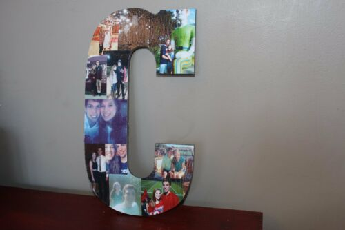 "13"" Personalized Photo Wrapped Wooden Letter, Maid of Honor Gift, Wedding Gift"