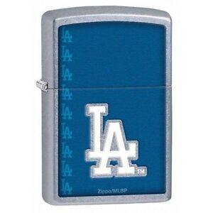 Zippo 29114 Classic MLB Los Angeles Dodgers Street Chrome Windproof Lighter
