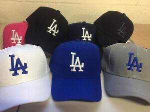 c3b33f640 A imagem está carregando Los-Angeles-Dodgers-bone-chapeu-bordado-La-homens-