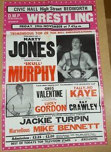 Vintage-Wrestling-Poster-1980-039-s-Marty-Jones-Skull-Murphy-Greg-Valentine-Gordon