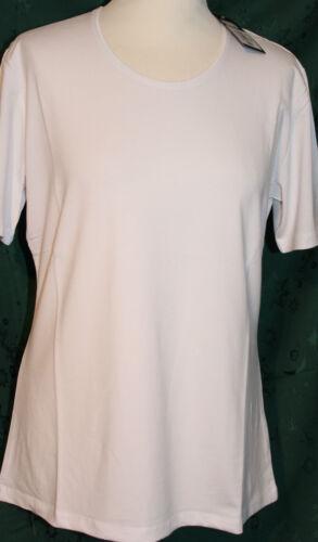 2699  Damen T-Shirt kurzarm Stretch Longshirt Basic weiß Gr.M 40-42