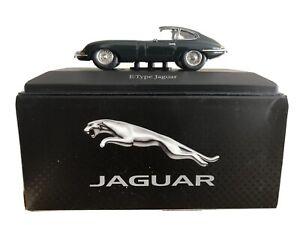 E-Type-Jaguar-Verde-Coche-Modelo-Atlas-Editions-escala-1-43