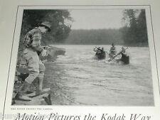1924 Kodak Movie camera advertisement, Eastman Kodak Cine-Kodak, canoeing