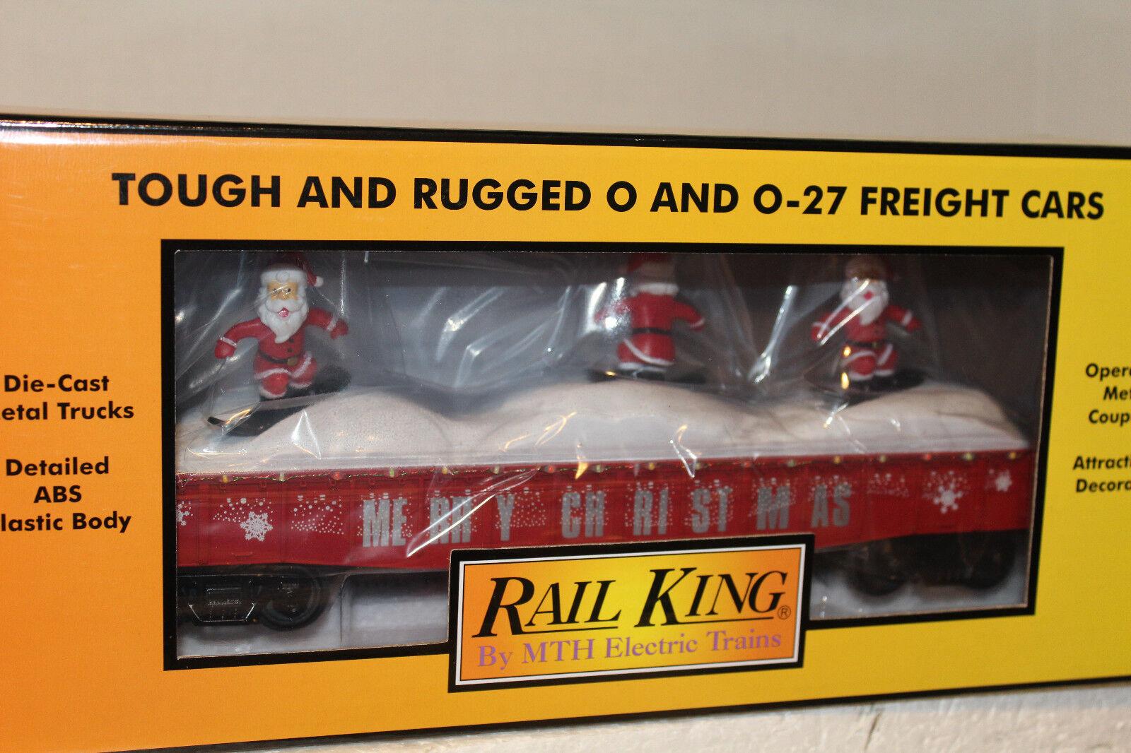 MTH  30-72194 Rojo Navidad góndola con bicis santas y luces LED