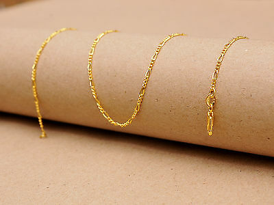 1PCS 20inch Jewelry 18K Yellow Gold Filled Figaro Chain Necklace For Pendant