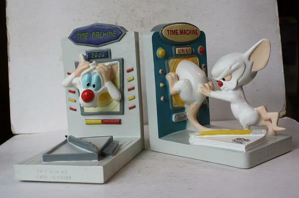 Pinky and the Brain Animaniacs 1996 Warner Bros 3-D  Figurine Bookends 2020 Item
