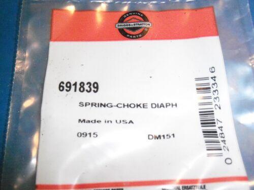 NEW BRIGGS CHOKE SPRING 691839 OEM FREE SHIPPING B130