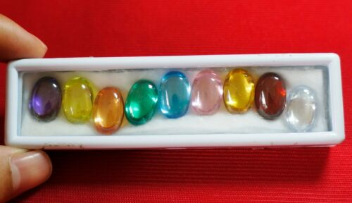 Powerful Nok Phra Gow 9 Colors Lucky Gems Naga Eye  Crystal Real Thai Amulet#R35