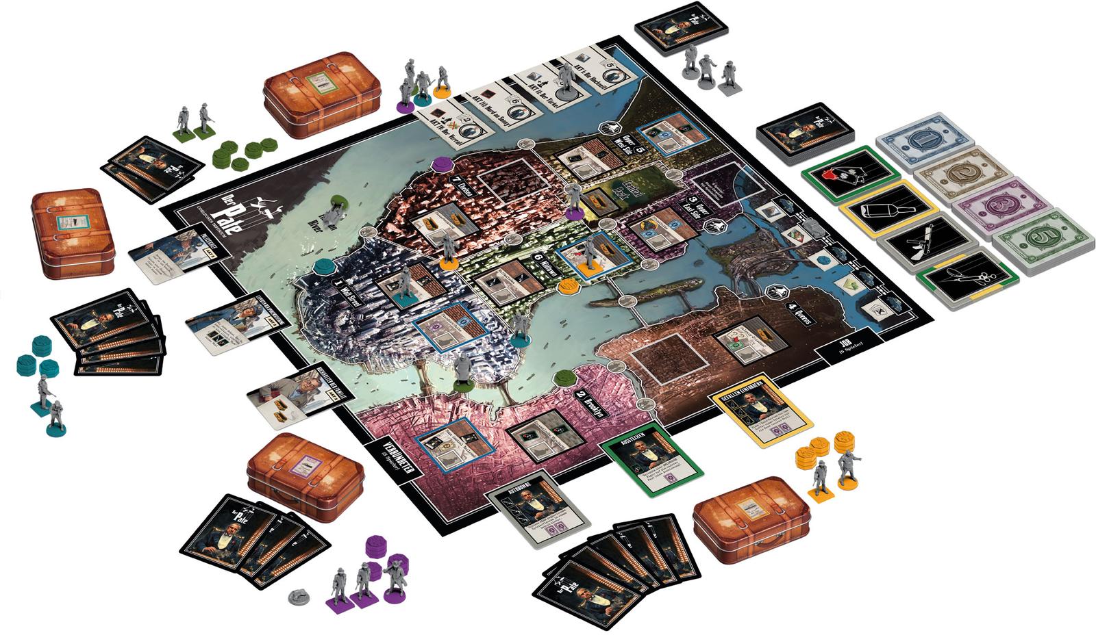 Il PADRINO-Corleone Impero, gioco da tavolo, tedesco, CoolMiniOrNot
