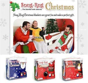 Genuine-snug-rug-noel-theme-a-manches-couverture-chaud-doux-jete-polaire-de-noel