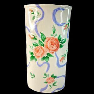 """Vintage Otagiri Japan Bud Floral Vase 6""""T 3""""W"""