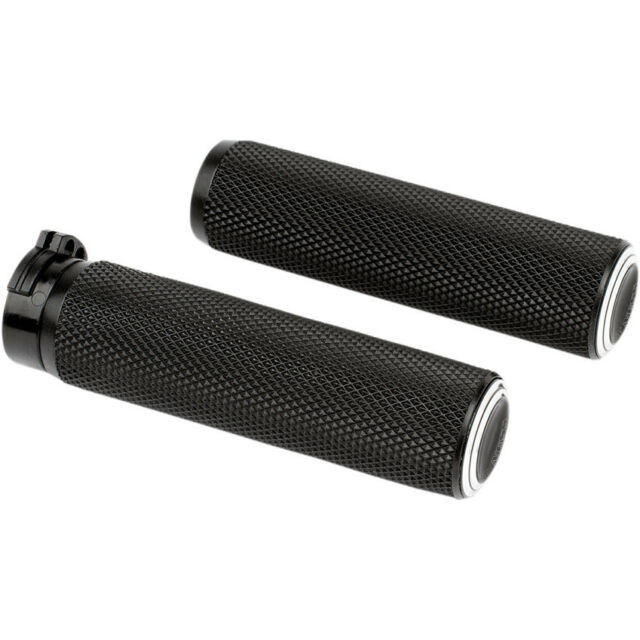 Arlen Ness Brass Knurled Fusion Grips for 1982-2018 Harley Dual-Cable