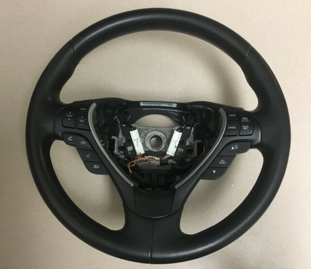 2013 2014 2015 Acura ILX OEM Black Leather Steering Wheel