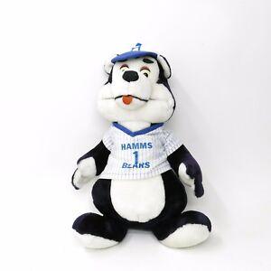 Vintage-Hamm-039-s-Beer-Stuffed-Plush-Bear-Baseball-Jersey-Hat-20-034-Tall