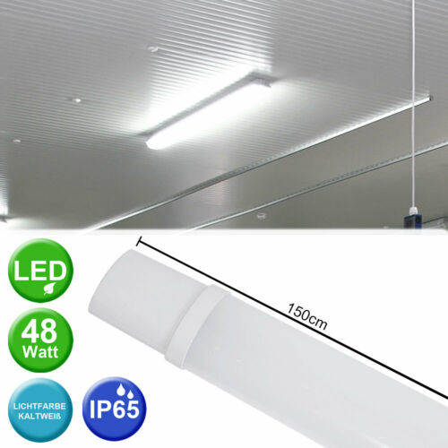 DEL Smd Plafonnier bacs Lampe Keller industrie Halles tubes Humide-Espace Lampe