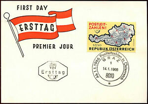 Austria-1966-Postal-Code-System-Graz-1-FDC-Card-C36330