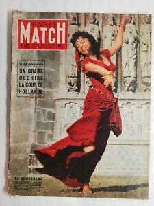 N560 Magazine Paris-Match N°377 30 juin 1956 La Esmeralda, un drame Hollande