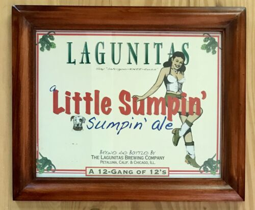 Nice! LAGUNITAS Beer Sign made from Upcycled Beer Boxes and Repurposed Frames